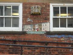 Skinningrove Mural Detail (Glass Horse 2017) Tags: cleveland skinningrove mural ceramic mosaic tiles whitecliffeprimaryschool artist glynisjohnson flood 2000 local community houses seagull lobsterpot