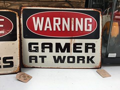 Warning, gamer at work