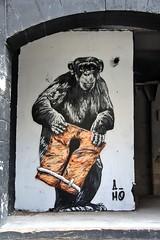 Sea Level Rise (just.Luc) Tags: graffiti grafitti urbanart chimpansee chimpanzee schimpanse chimpanzé reddingsvest rettungsweste giletdesauvetage lifejacket globalwarming réchauffementclimatique opwarmingvandeaarde globaleerwärmung art kunst public publiek darwin france frankrijk frankreich francia frança bordeaux gironde nouvelleaquitaine primate primaat tears tranen larmes oranje orange europe europa protest think meaning