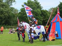 DSCF3704 (SierPinskiA) Tags: ruffordabbeycountrypark rufford knightsofnottingham fujixs1 jousting medieval horse knights goldeneagle falcon