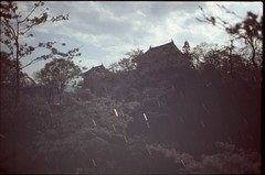 (✞bens▲n) Tags: pentax lx velvia 100f carl zeiss 35mm f24 flektogon film analogue slide japan nagano ueda castle multiexposure night stars sky sakura cherry blossoms