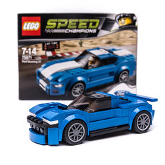 75871 HYPRCR (KEEP_ON_BRICKING) Tags: lego moc 75871 custom mod set design hypercar ford mustang blue box keeponbricking 2018 alternate model alternative remake