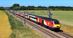 LNER 43311 and 43257 (dgh2222) Tags: hst class 43 43311 43257 1e13 ecml hambleton uk railways