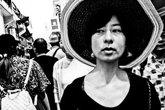 (Victor Borst) Tags: street streetphotography streetlife reallife real realpeople asia asian asians faces face candid travel travelling trip traffic traveling urban urbanroots urbanjungle blackandwhite bw portrait closeup streetportrait mono monotone monochrome asakusa japan japanese tokyo fashion hat hats sunny sun sexy woman lady female city cityscape citylife xpro2 expression fuji fujifilm