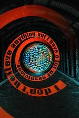 Discordian underground RAW quote (- Hob -) Tags: lightpainting lightjunkies orb spiral addressable led underground tunnel tyneside newcastleupontyne nopostprocessing sooc longexposure singleexposure