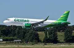 Citilink Airbus A320 neo PK-GTG (Planes Spotter And Aviation Photography By DoubleD) Tags: garuda indonesia airlines liners liner commercial asia asian france toulouse airport lfbo airbus a320 neo new engine option pkgtg winglets profile landing spotters spotting canon eos citilink