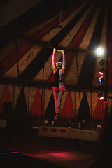 Being in Circus (dejankrsmanovic) Tags: editorial circus tent indoor interior stage show presenting presentation concert public entertaining entertainment night scene play game showing simple retro vintage room place concept conceptual entertain light acrobat rope reflector blur player dancer