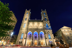 Notre Dame Basilica Exterior at Night (Jemlnlx) Tags: canon eos 5d mark 4 5d4 5div montreal quebec canada cda notre dame basilica cathedral catholic church ef 1635mm f4 l is usm wide angle zoom night evening exterior