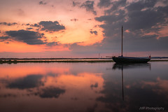 All at sea (fieldino34) Tags: colour harbour chichester softlight nikond750 nikon evening sky clouds reflection water sailing ocean seascape sea sussex westsussex westwittering boat twilight dusk sunset sun summer