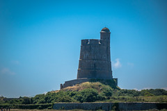 One of many defence towers along the beaches in Normandy.