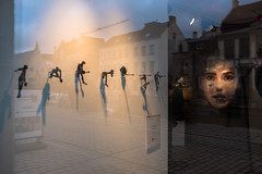 (Jeffrey De Keyser) Tags: ghent gent belgium street reflection shadows art streetphotography fuji fl1