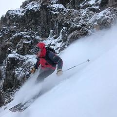 @whereisbrownyskiing doing his best Jackson hole ski patrol impersonation. (KingswoodSkis) Tags: ifttt instagram