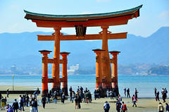 Itsukushima Shrine (Gedsman) Tags: japan asia northeastasia eastasia traditional culture cultural shinto buddhist tower neon lights travel beauty architecture island temple photography hiroshima miyajima sea seto inland castle atomicbomb abomb atomic bomb