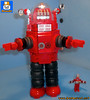 RED ROBBY ROBOT (baronsat) Tags: lego scifi science fiction movie 50s custom moc instructions bricks old classic robby robot 1956 forbidden planet tv television programs pulp magazine isaac asimov gold age starship c57d altair altairiv morbius three laws of robotics