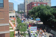 From The Beginning (Flint Foto Factory) Tags: chicago illinois urban city summer june 2018 annual lgbt lbgtq pride parade lesbian gay bisexual trans queer celebration life float crowd montrose cta chicagotransitauthority redline northbound train start route east view rainbow