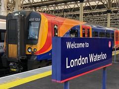 South Western Railway 450125 at London Waterloo (Ady Williams Photography) Tags: 0742 basingstoke bsk emu train wat siemens desiro 450125 450 class railway western south southwestern swr london waterloo