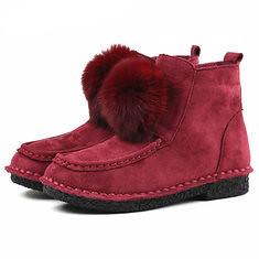 Winter Fur Lining Comfy Cotton Ankle Boots For Women (1216957) #Banggood (SuperDeals.BG) Tags: superdeals banggood bags shoes winter fur lining comfy cotton ankle boots for women 1216957