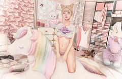 A Girly Mess (Gabriella Marshdevil ~ Trying to catch up!) Tags: sl secondlife cute kawaii doll sexy caboodle sintiklia halfdeer lagom catwa mudskin