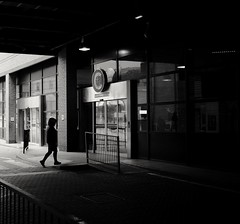 The big C. (ianmiller6771) Tags: thebigc blackandwhite bw monochrome zebracrossing streetphotography streetphotographyuk gloom fuji busstation death whiteblack 27mm fujixt1
