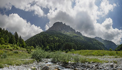 Middle rock (Gadjowsky) Tags: mountain mountains macedonia hiking forest peak sky clouds shara pano panorama photomerge nature landscape landschaft