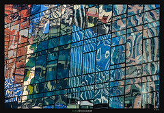 NYC Psychedelia (Ilan Shacham) Tags: abstract color shape form architecture reflection psychedelic building pattern fineart fineartphotography ny nyc newyork usa glass windows
