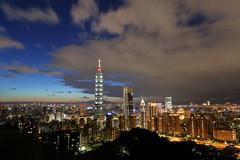Taipei City Xinyi District (Dustin Chuang) Tags: taipei city xinyi district 101 taipei101 taiwan roc 台北 信義區 台灣 象山 夜景