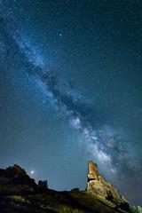 Castillo de Zafra - Guadalajara (robertopastor) Tags: robertopastor nikon d850 nikkor1424 castillodezafra guadalajara víalactea nocturna