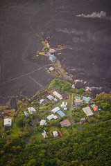 Kapoho Bay Hawaii - Lava Destroyed Homes (tobyharriman) Tags: 5dsr kapoho leilaniestates aerial bay bigisland canon disaster farms fissure hawaii helicopter islands kilaueafissure8 landscape lava natgeo nationalgeographic nature outdoor pele photography rifts river tobyharriman travel volcano