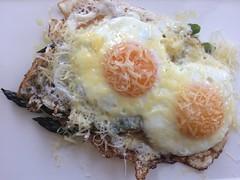 Eggs over asparagus with comte (htomren) Tags: phonepics food eggs asparagus ramblingroots