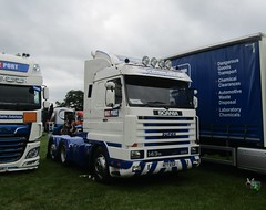 Hazport N77 ESX at Party on the Pitch truck show (Joshhowells27) Tags: lorry truck scania 143m whitchurch hazport