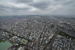 Tokyo from the Top of the Skytree (JasonCameron) Tags: japan tokyo city urban skyline buildings cloud storm rain beauty