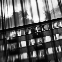 contact (Neko! Neko! Neko!) Tags: blackandwhite blackwhite bw mono monochrome window encounter contact stranger unknown emotion feeling contrast expression expressionism lensbaby