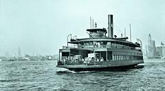 The 'Cranford' leaving Manhattan for the CRRNJ ferry slip in Jersey City - July 1939 [D. Lange] LOC 8b33852a (SSAVE over 11 MILLION views THX) Tags: newyorkcity manhattan 1930s transportation ferryboats hudsonriver crrnj jerseycentrallines