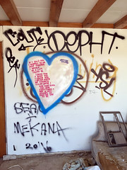 If I told You... (cowyeow) Tags: salton graffiti painting art abandoned saltonsea old desert california usa america bombaybeach beach weird odd strange folkart wall white funny poem poetry love heart sad heartbreak