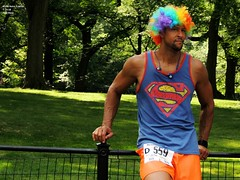 NYRR Retro 4-Miler, Post-Race 7-14-18 (local1256) Tags: newyorkcity nyc nyrr newyorkroadrunners centralpark manhattan 4miles retro4miler retro race runners candid candidphotos candidportrait portrait streetcandid clown wig