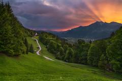 Sunset at Wamberg (Alexander Lauterbach Photography) Tags: germany deutschland garmisch partenkirchen wamberg alpen alps mountain sunset spring sony a7rii