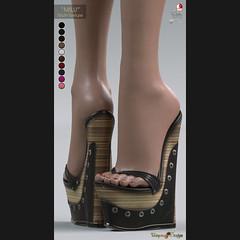 "**UTOPIA@Design** - ""MILU"" - Multi-Texture (Maitreya, Slink, Belleza) (**UTOPIA@Design** - Elisabetta Hyun) Tags: utopiadesign utopiadesignsl utopia uber elisabettahyun event 3d secondlife mesh heels leather design second modeling marketplace maitreya meshbody midcalf multitexture mid sl style shoes slink shiny stiletto mules hourglass shoe physique boots belleza black body boot beige freya fair fitted female gift life"