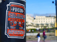 Poison (Kombizz) Tags: 1200537 kombizz 2017 september2017 170917 amazingsunday birthdaypresent brighton seasideresorttown brightonandhove eastsussex nopsbatchresizing travel sticker thepoison skullextract deadlyfatal 16fluidounces haters toy buff