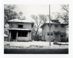 Chicago, IL (moominsean) Tags: polaroid 190 fuji fp3000b instant illinois chicago chicagolawn homes winter snow midwest