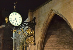 St Martin's clock, York (Tony Worrall) Tags: update place location uk england north visit area attraction open stream tour country item greatbritain britain english british gb capture buy stock sell sale outside outdoors caught photo shoot shot picture captured yorks northyorkshire yorkshire york home house grand statley stmartinsclock night time clock wall evening