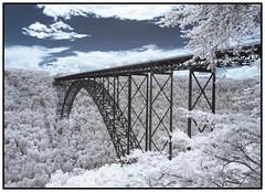 2018 - Infrared - New River Gorge Bridge, West Virginia (kurttakespictures) Tags: infrared ir newrivergorge bridge trees appalachia mountains wv westvirginia
