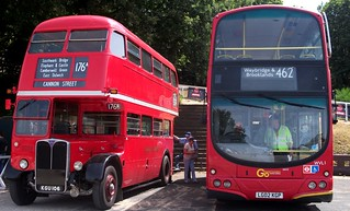 London transport RT2177 & London General WVL1 Brooklands 24/06/18.