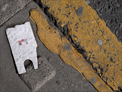 This is not art. No. 25. (Dave Whatt) Tags: notart art colour composition foundart road serendipity texture print dirty mucky foundobject