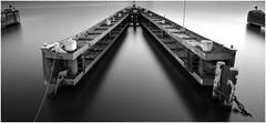 Amsterdam ferry dock (Oguzhan Amsterdam) Tags: amsterdam pontsteiger noord long exposure lee leefilter nd neutraldensity neutral density superstopper bw black white pier dock shuttertime oguzhan photography ij 15stops fineart