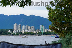 That view tho (the8dushphoto) Tags: vancouver bc beach water downtown green blue city sunny sun ocean