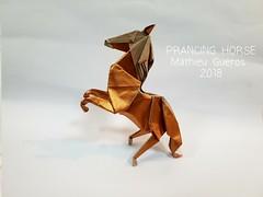 PRANCING HORSE (Mathieu Gueros Origami) Tags: horse origamihorse cheval origamicheval mathieuguerosorigami mathieugueros