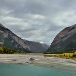 Mountains on Both Sides to Take in a Valley and Kicking Horse River (Yoho National Park) thumbnail
