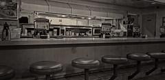 A Hard Day's Night (Steve Mitchell Gallery) Tags: diner restaurant dive coffeeshop quiet still night closingtime street