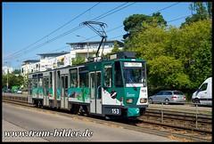 153-2018-07-14-3-Galileistraße (steffenhege) Tags: potsdam vip strasenbahn streetcar tram tramway kt4d kt4dm ckd 153 rollbandzielanzeigenabschied