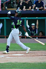 JAMESON HANNAH (MIKECNY) Tags: vermontlakemonsters as hit hitter swing minorleague nypennleague